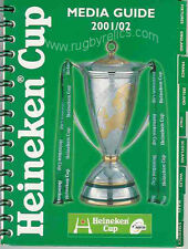 EUROPEAN 'HEINEKEN' CUP RUGBY MEDIA GUIDE 2001/02