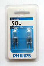 Philips Double Pack 50W GY6.35 Clear Halogen Dimmable Light Globe 12V Capsule