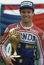 Moto GP Randy Mamola Hand Signed Photo 12x8 1