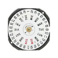 Hattori Seiko VX33E Quartz Watch Movement Day & Date @ 3 - New with Battery VX33