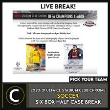 2020/21 TOPPS UEFA STADIUM CHROME Soccer 6 Caja romper #S201 - Elige Tu Equipo