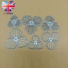 """lOT Scrapbooking Cutting Die Bow Templates size 7pcs 6/""""//5/""""//4.5/""""//4/""""//3.5/""""//3/""""//2."""