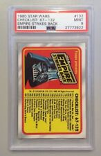 "1980 STAR WARS #131 PSA 9 MINT EMPIRE STRIKES BACK ""CHECKLIST 1-66"""