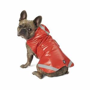 PETRAGEOUS DOG RAIN COAT LONDON SLICKER RED SIZE SMALL MEDIUM LARGE NWT