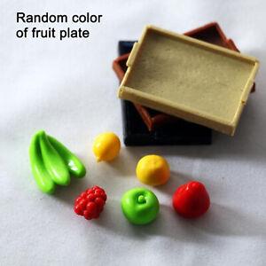 1/12 Dollhouse Mini Fruit and vegetable dinner plate Model Kitchen Decorat`