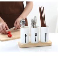 Kitchen Flatware Utensil Holder Cutlery Drainer Caddy Flatware Organizer NEW