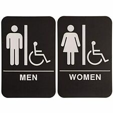 "On Top Awards - Men's And Womans Bathroom Signs With Wheelchair Accessible 6""x9"""