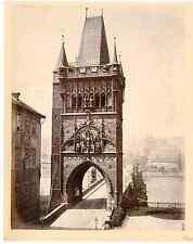 Prague, Praha, Prag, Pont Charles vintage albumen print  Tirage albuminé  20