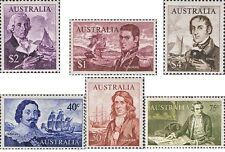 Australian 1966 Mint Uncancelled SET 1st Decimal Navigators Stamp variety Issues
