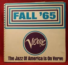 Rare Record Promo Catalog Fall 65' The Jazz America Is On Verve