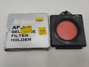 """Vintage Nikon AF-1 3x3"""" Gelatin Gel Filter Holder w/ CC40R - 52mm Thread *Read*"""