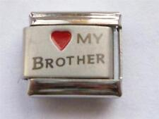 GENUINE CLASSIC ITALIAN LINK CHARM + UNBRANDED  I LOVE MY BROTHER CHARM Q5