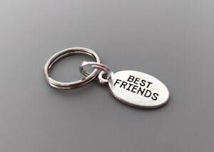 Dog Cat Collar Charm - Silver Best Friends  plaque