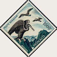 "Monaco post Aerienne N°68 "" Birds of Sea Comorans 1000F D13 "" New Xx Luxury"