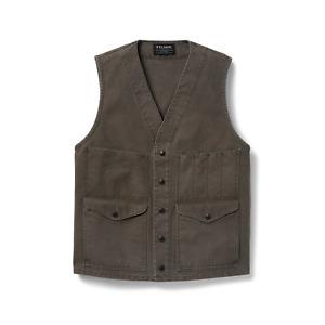 Filson Dry Tin Cruiser Vest Stone Brown