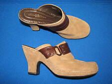 10 42 M / W Born Crown Brown Suede Leather ladies Womens High Heel Mules Marian