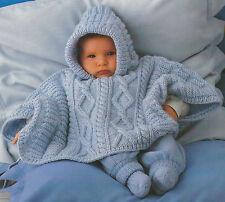 baby Poncho Knitting Pattern Aran 3-18months 509