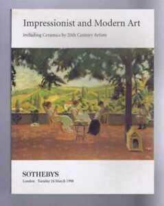 Art: Impressionist & Modern Art incl. Ceramics, Sotheby's, London, 24 March 1998