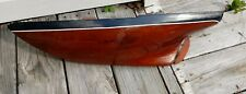 """Estate Find! Vintage Model Handmade Wooden Pond Yacht Boat Sailboat 25"""""""