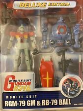 "BRAND NEW BANDAI Mobile Suit Gundam GM & BALL 4.5"" Action Figure 1999 MSIA MIA"