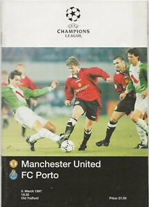 1996/97 Manchester United v FC Porto Champions League Quarter Final Programme