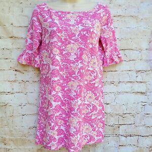 Lilly Pulitzer Pink Chum Bucket Somerset Resort Wear Women's Dress Size XS