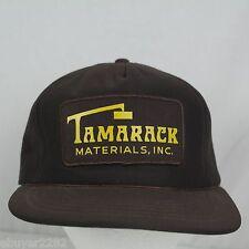 Vintage Tamarack Materials Inc. Trucker Hat Snapback Cap - Construction - Brown