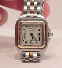 Cartier Panthere One Row 18k Yellow Gold & St. Steel Authentic