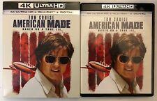 AMERICAN MADE 4K ULTRA HD UHD BLU RAY 2 DISC SET + SLIPCOVER SLEEVE FREE SHIPPIN