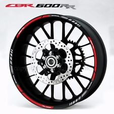 Honda CBR600RR motorcycle wheel decals stickers rim stripes Laminated 600 RR red