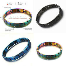 4 Color Therapeutic Energy Healing Stainless Steel Magnetic Stretch Bracelet