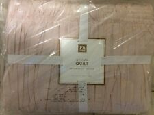 Pottery Barn Teen Gemma Twin Quilt Nwt! Powdered Blush Pink 100% Cotton Ruched