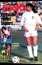 France Football 15/7/1980; Kempes/ Sochaux; Anziani/ L'année Anglaise; Shilton