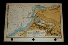 SALE - D-Day Invasion Military Planning FECAMP, France, WW2 Map 1943