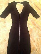 GORGEOUS! MARCIANO BLACK Bandage zipper dress SIZE XS FREE SHIPPING!