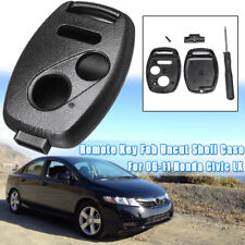 For 06 2007 2008 2009 2010 2011 Honda Civic LX Remote Key Fob Uncut Case ABS