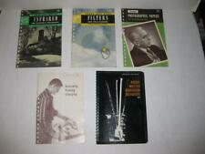 Kodak Data Books Filters Photographic Papers Infrared Darkroom ++ 1940's & 50's