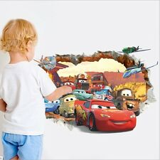 New Kids 3D Disney Cars McQueen Mater Out Wall Decal Sticker Child Bedroom Decor