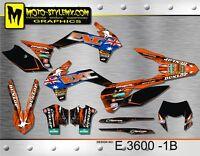 KTM EXC 125 250 350 450 530 2014 up to 2016 decals graphics kit Moto-StyleMX