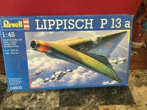 1996 Revell Lippisch P 13a 1:48 Scale Model Kit - Not Complete