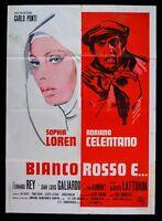 M96 Manifesto 2F Weiß Rot E Sophia Loren Adriano Celentano