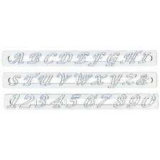 FMM Set Script Alphabet Lettres Majuscules & Chiffres Outil de Coupe Fondant