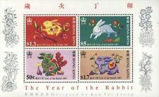 Hong Kong MNH  Scott  485a Souvenir sheet Value $ 45,oo Lunar Year of the Rabbit
