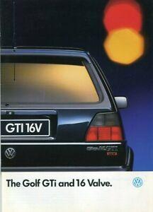 VOLKSWAGEN VW GOLF GTI & 16 VALVE 16V - 1990 Mk2 UK sales brochure