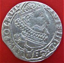 SILVER COIN POLAND LITHUANIA SIGISMUND III WASA 6 GROSZ, 6 GROSCHEN 1626