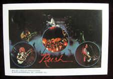 RUSH 3.75 x 6 Inch 1979 Mini-Poster Sticker near MINT