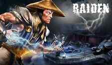 Super Nintendo Snes Mortal Kombat  RAIDEN  Poster 8.5x11 Game Decor #1