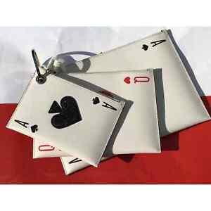 Kate Spade Lucky Draw Triple Pouch set 3 pouches