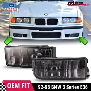 For BMW 3 Series E36 M3 1992-1998 Factory Replacement Fit Fog Lights Smoke Lens