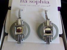 LIA SOPHIA ALLUMER EARRINGS--NEW IN GIFT BOX--ART DECO DESIGN--RETAIL $150